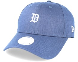 Detroit Tigers Linen Small Logo Navy Adjustable - New Era