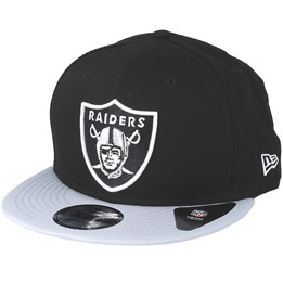 d74e796a1 Oakland Raiders Silver And Black Attack 9Fifty Black Adjustable ...