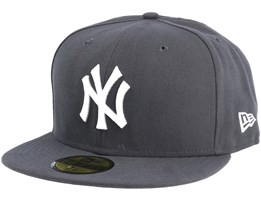 New York Yankees MLB Basics Graphite/White 59Fifty Fitted - New Era