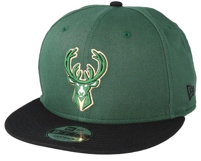 Milwaukee Bucks Team 9Fifty Green Snapback - New Era cap - Hatstore.co.in 59646d98db11