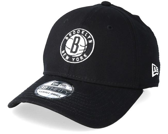 3a61146dc4834 Brooklyn Nets 39thirty Black Flexfit - New Era caps ...