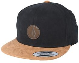 Quarter Fabric Black/Brown Snapback - Volcom