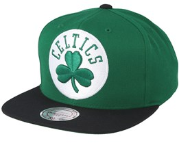 Boston Celtics XL 2 Logo 2 Tone Green Snapback - Mitchell & Ness