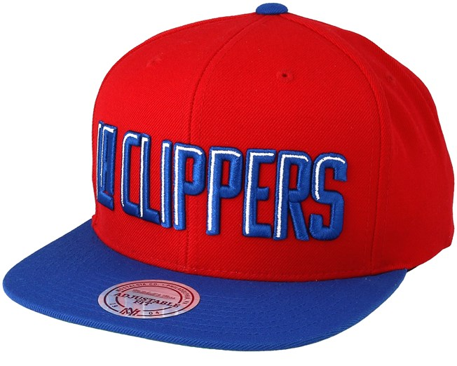 LA Clippers XL Logo 2 Tone Red Snapback - Mitchell   Ness cap -  Hatstore.co.in 66d4000c55ae