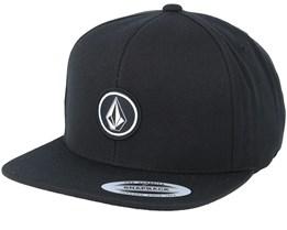 Quarter Twill Black Snapback - Volcom