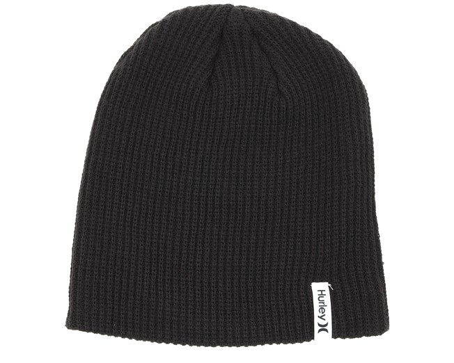 460f0426e9a Stample Black Beanie - Hurley beanie - Hatstore.co.in