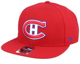 Montreal Canadiens Sure Shot Captain Vintage Red Snapback - 47 Brand