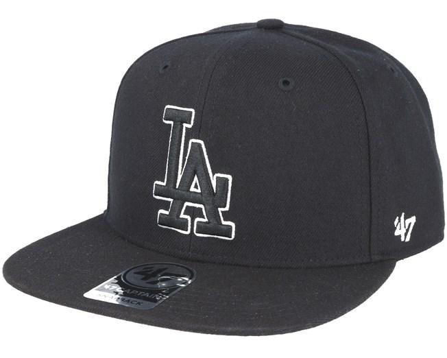 Los Angeles Dodgers Sure Shot `47 Captain Black Snapback - 47 Brand ... 638efbcce99c
