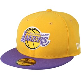 cheap for discount 3fd09 aa7fb New Era LA Lakers 59Fifty Basic Yellow Purple Fitted - New Era £39.99