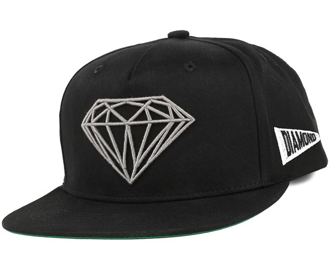 de16499c964c58 Brilliant Black Snapback - Diamond caps | Hatstore.co.uk