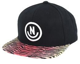 Daily Smile Black/Tiger Stripe Snapback- Neff