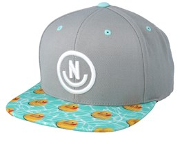 Daily Smile Grey/Turquoise Red Duck Snapback- Neff