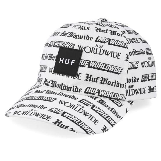 Keps Fake News CV White Adjustable - HUF - Vit Reglerbar
