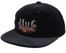 Bed of Roses 6-Panel Black Strapback - HUF