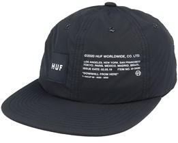 Offset 6 Panel Hat Black Snapback - HUF