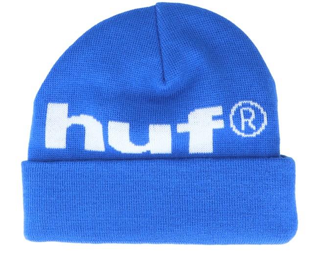 HUF Box Logo Snapback Cappello Dark Cobalt