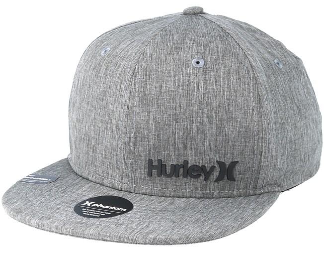 60656c809fa8f Phantom Corp Grey Snapback - Hurley caps - Hatstoreworld.com
