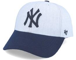 New York Yankees Munson Mvp Grey/navy Adjustable - 47 Brand