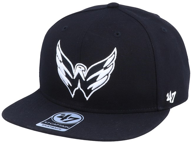 new high quality official new specials Washington Capitals Sure Shot Captain Black/White Snapback - 47 ...