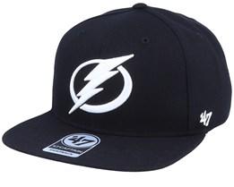 Tampa Bay Lightning Sure Shot Captain Black/White Snapback - 47 Brand