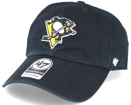 fd8f21dbbd7e3 Pittsburgh Penguins Clean Up Black Adjustable - 47 Brand