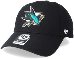 San Jose Sharks Mvp Black Adjustable - 47 Brand