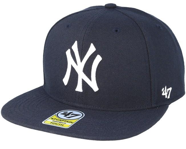 50720739c95fff Kids New York Yankees Youth No Shot 47 Captain Navy Snapback - 47 Brand cap  - Hatstore.co.in