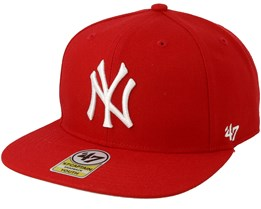 04878b261c4 Kids New York Yankees No Shot 47 Captain Red White Snapback - 47 Brand