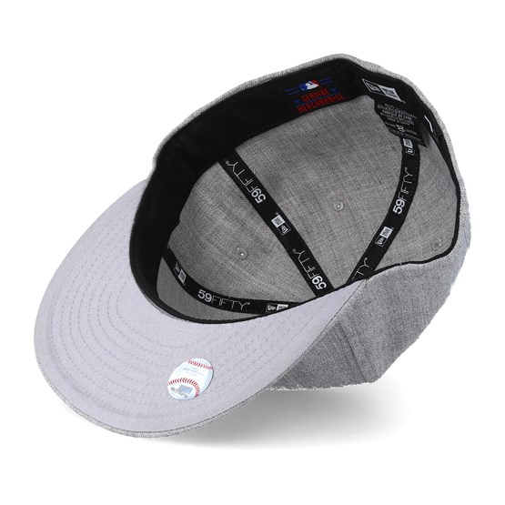 c4ba24e1b35 New York Yankees MLB Basic Heather Grey 59Fifty Fitted - New Era caps