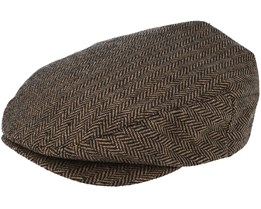 Hooligan Snap Brown/Khaki Flat Cap - Brixton