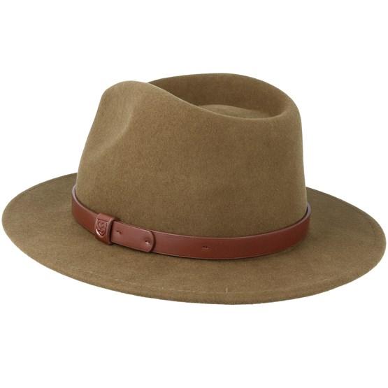 ca000d63e603a1 Messer Light Olive Fedora - Brixton hats - Hatstorecanada.com