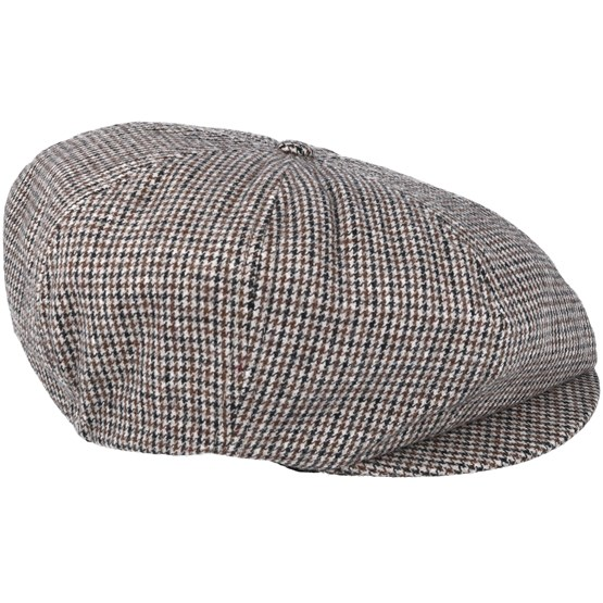 Brood Snap Black Tan Flat Cap - Brixton - Start Gorra - Hatstore 6eb725fad82