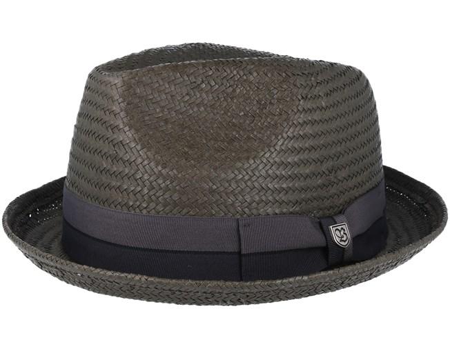 35b0c46ec5b3e Castor Washed Black Black Fedora - Brixton hats
