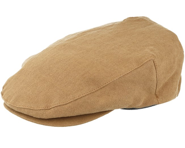 Hooligan Snap Dark tan Beige Flat Cap - Brixton - Start Gorra - Hatstore 2a1fee2d8d4
