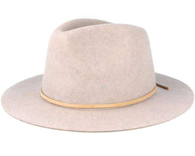 Wesley Heather Stone Fedora - Brixton hats - Hatstoreworld.com c60ed80fdeb5