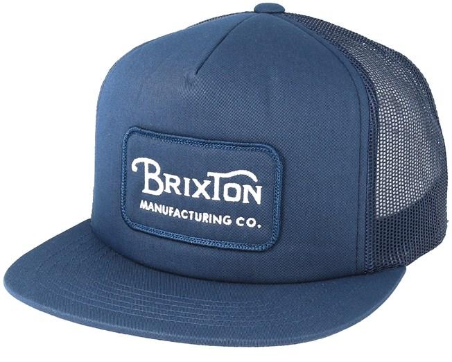 ef01c0fbd7 Grade Mesh Light Navy Trucker - Brixton caps - Hatstoreworld.com