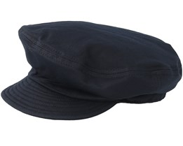 Fiddler Un Washed Black Flat Cap - Brixton
