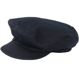 Fiddler Un Washed Black Flat Cap - Brixton