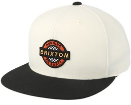 Speedway Off White/Black Snapback - Brixton
