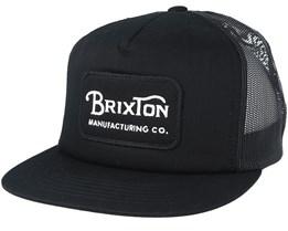 Grade Mesh Black/Black Trucker - Brixton