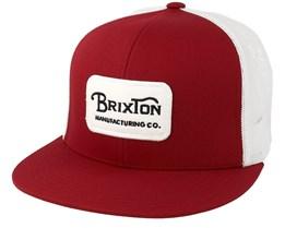 Grade Mesh Burgundy/Whtie Trucker - Brixton