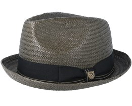 Castro Washed Black/Gold Fedora - Brixton