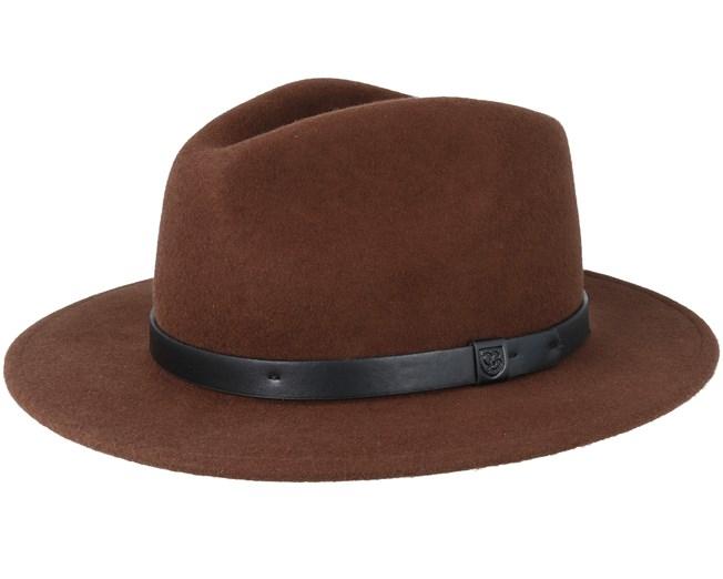 Messer Brown/Black Fedora - Brixton Hats