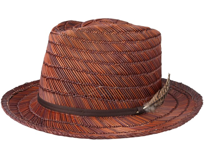 9899849e3e17b Crosby II Brown Brown Straw Fedora - Brixton hats - Hatstoreworld.com