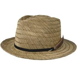 125e307a90435 Crosby II Tan Straw Fedora - Brixton hats