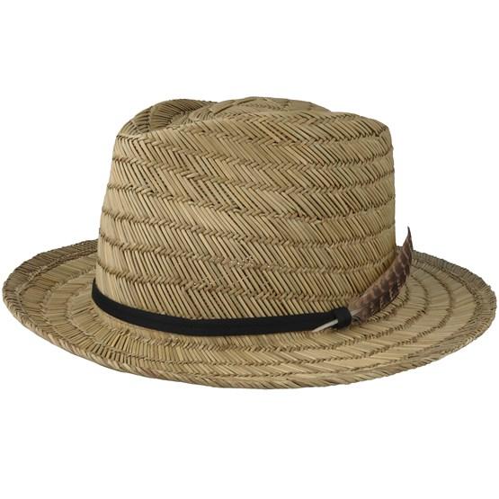 76060fcf2bf Crosby II Tan Straw Fedora - Brixton hats - Hatstoreworld.com