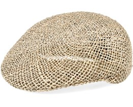 Ensenada Straw Tan Flat Cap - Brixton