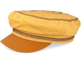 Fiddler EMB Nugget Gold Flat Cap - Brixton