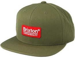 Palmer II MP Olive/Red Snapback - Brixton