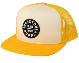 Oath III Mesh Gold/Off White Trucker - Brixton
